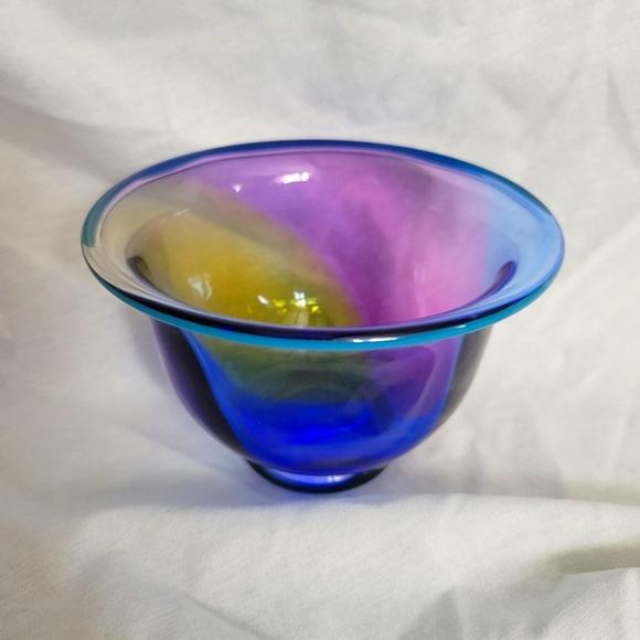 Transjo Hytta WRC Swedish Art Glass Bowl